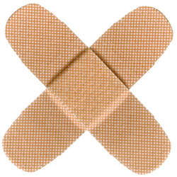 band aids in the shape of an x