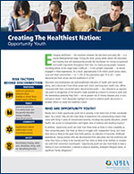 Creating the Healthiest Nation: Opportunity Youth fact sheet page