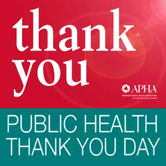 thank you Public Health Thank You Day