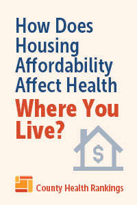 How Does Housing Affordability Affect Health Where You Live? House with dollar sign in the middle