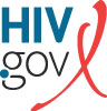 AIDS dot gov logo with red ribbon