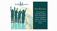 children with arms raised Health M Powers