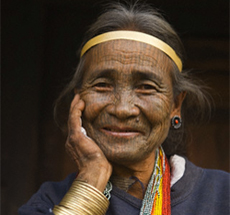 Elderly American Indian woman
