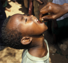 Boy swallows medicine