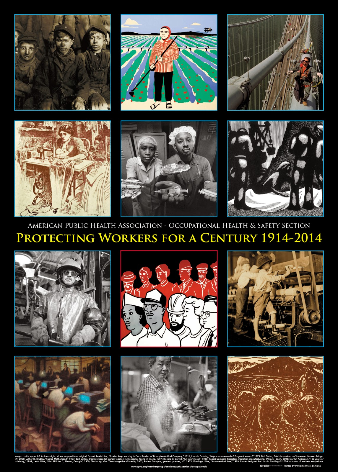 photos of worker protections throught the century