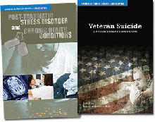 PTSD and Veterans Suicide book covers