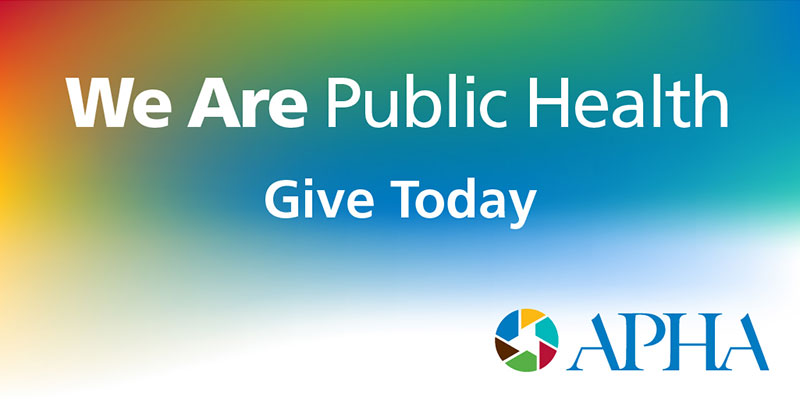 We Are Public Health Give Today APHA logo