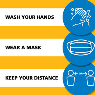 Wash Your Hands, Wear a Mask, Keep Your Distance