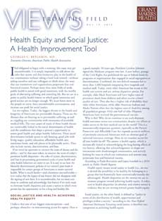 Health Equity and Social Justice